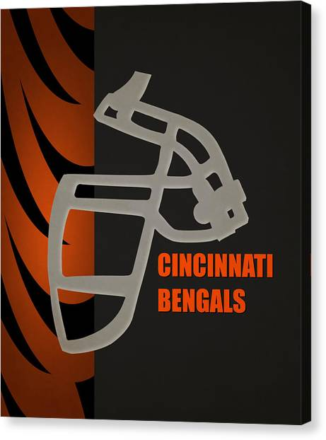 Cincinnati Bengals Canvas Print - Retro Bengals Art by Joe Hamilton