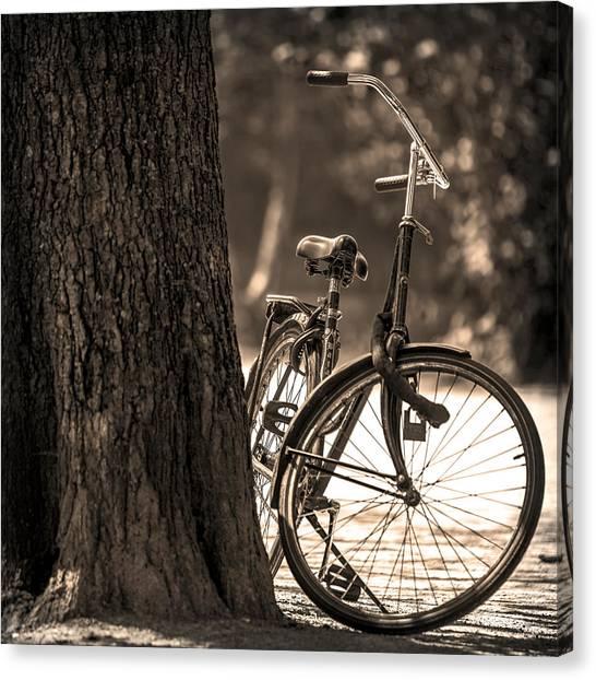 Canvas Print featuring the photograph Retro Bicycle by Georgi Djadjarov