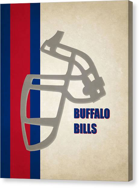 Buffalo Bills Canvas Print - Retro Bills Art by Joe Hamilton