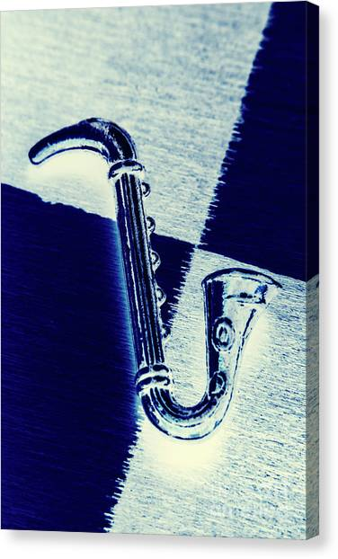Saxophone Canvas Print - Retro Blues by Jorgo Photography - Wall Art Gallery