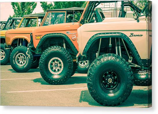 Retro Bronco Heaven Canvas Print