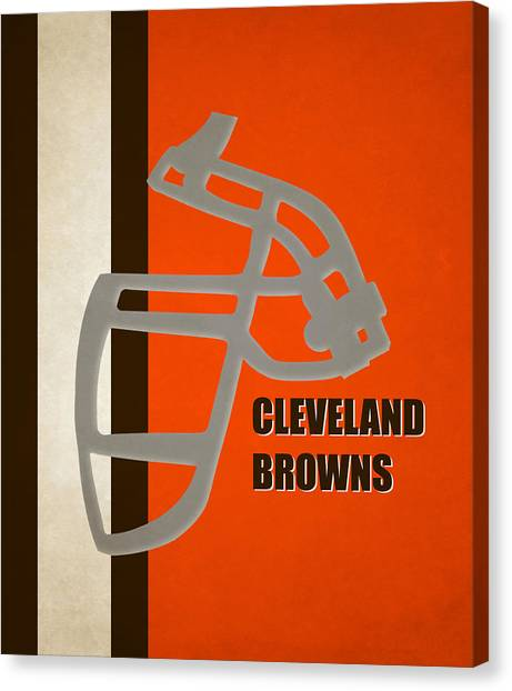 Cleveland Browns Canvas Print - Retro Browns Art by Joe Hamilton