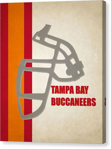 Tampa Bay Buccaneers Canvas Print - Retro Buccaneers Art by Joe Hamilton