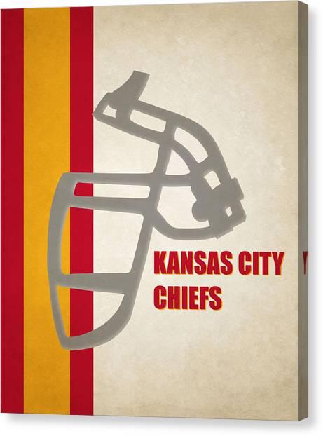 Kansas City Chiefs Canvas Print - Retro Chiefs Art by Joe Hamilton