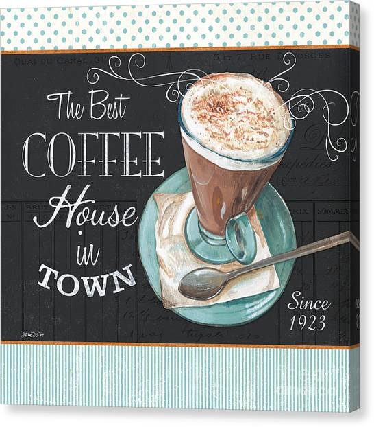 Cafes Canvas Print - Retro Coffee 2 by Debbie DeWitt
