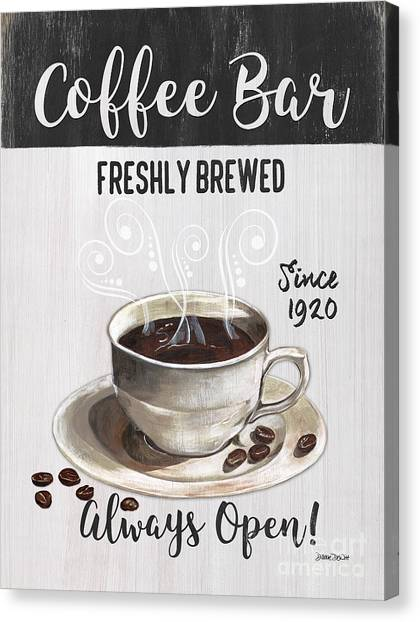 Bistros Canvas Print - Retro Coffee Shop 2 by Debbie DeWitt