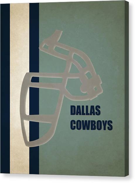 Dallas Cowboys Canvas Print - Retro Cowboys Art by Joe Hamilton