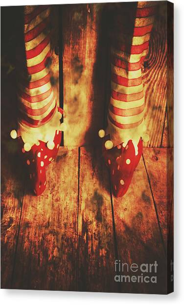 Feet Canvas Print - Retro Elf Toes by Jorgo Photography - Wall Art Gallery