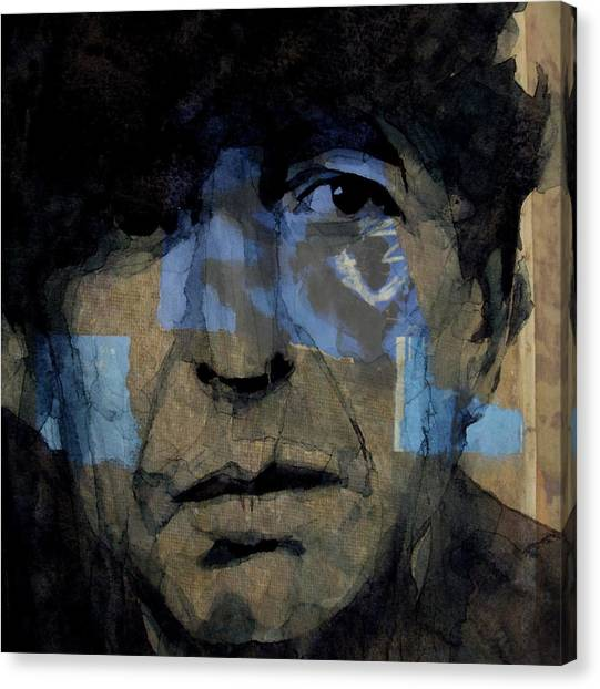 Singer Canvas Print - Retro- Famous Blue Raincoat  by Paul Lovering