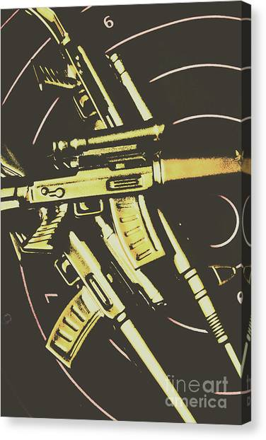 Rifles Canvas Print - Retro Guns And Targets by Jorgo Photography - Wall Art Gallery