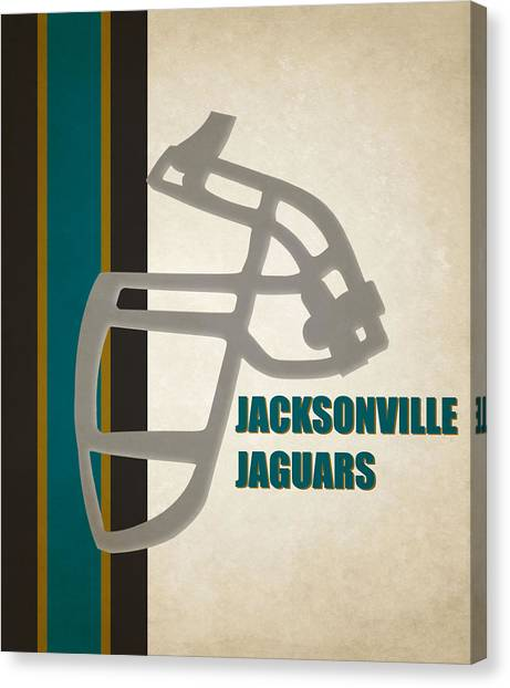 Jacksonville Jaguars Canvas Print - Retro Jaguars Art by Joe Hamilton