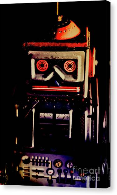 Metallic Canvas Print - Retro Mechanical Robotics by Jorgo Photography - Wall Art Gallery