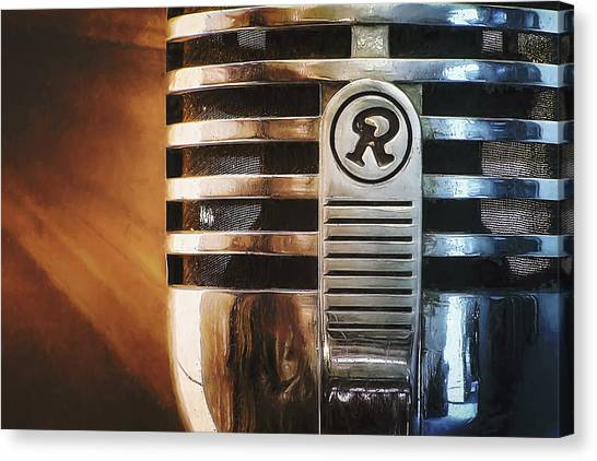 Retro Microphone Canvas Print