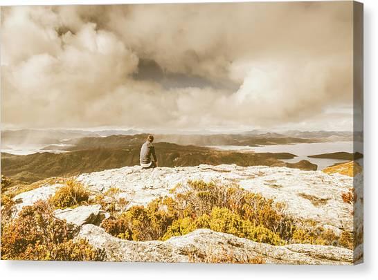 Travel Destinations Canvas Print - Retro Mountaintop Views by Jorgo Photography - Wall Art Gallery