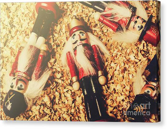 Soldiers Canvas Print - Retro Nutcrackers by Jorgo Photography - Wall Art Gallery