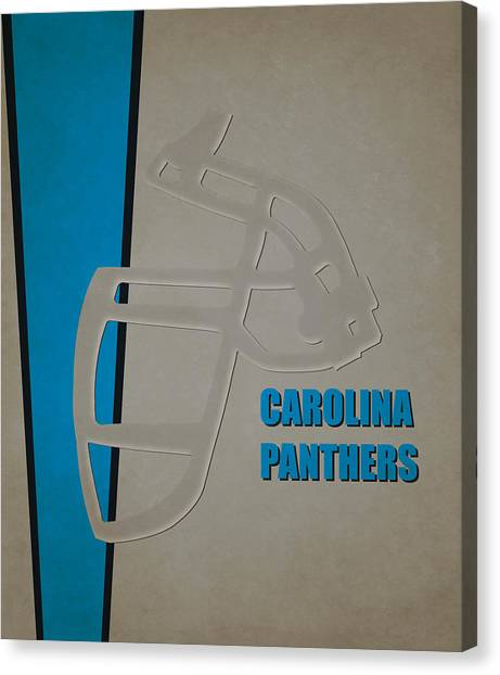 Carolina Panthers Canvas Print - Retro Panthers Art by Joe Hamilton