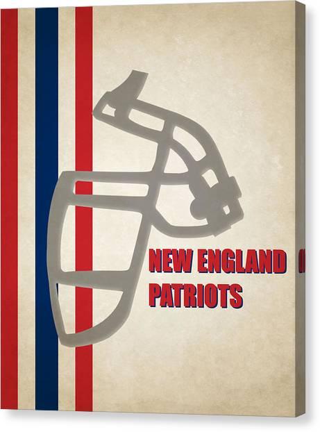 New England Patriots Canvas Print - Retro Patriots Art by Joe Hamilton