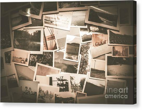 20th Canvas Print - Retro Photo Album Background by Jorgo Photography - Wall Art Gallery