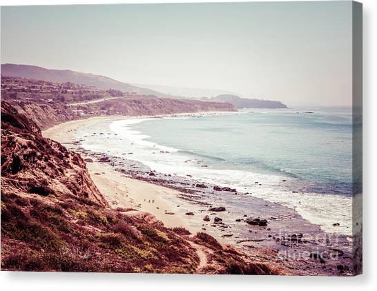 Retro Photo Of Laguna Beach California Canvas Print by Paul Velgos