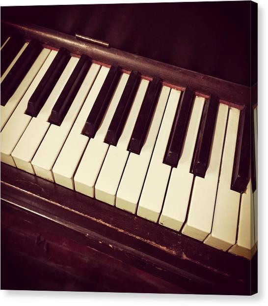 Classical Canvas Print - Retro Piano Keys by GoodMood Art