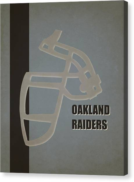Oakland Raiders Canvas Print - Retro Raiders Art by Joe Hamilton