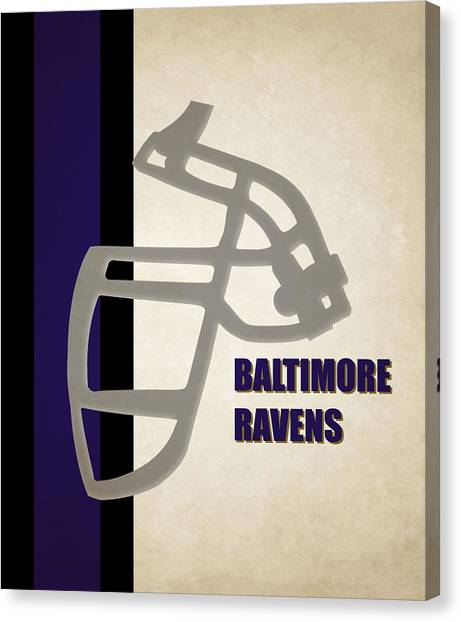 Baltimore Ravens Canvas Print - Retro Ravens Art by Joe Hamilton