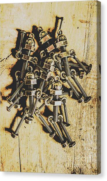 Factories Canvas Print - Retro Robot Recruits by Jorgo Photography - Wall Art Gallery