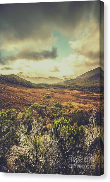 Natural Landscapes Canvas Print - Retro Scenic Wilderness by Jorgo Photography - Wall Art Gallery