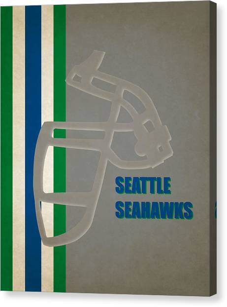 Seattle Seahawks Canvas Print - Retro Seahawks Art by Joe Hamilton