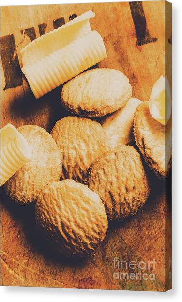Biscuits Canvas Print - Retro Shortbread Biscuits In Old Kitchen by Jorgo Photography - Wall Art Gallery