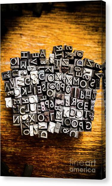 Printers Canvas Print - Retro Typesetting In Print by Jorgo Photography - Wall Art Gallery