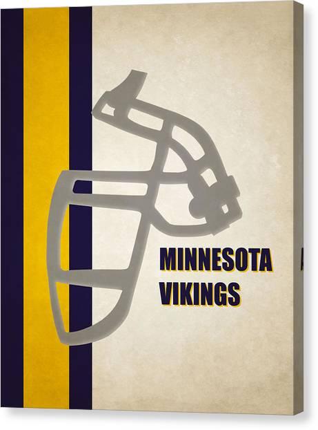 Minnesota Vikings Canvas Print - Retro Vikings Art by Joe Hamilton