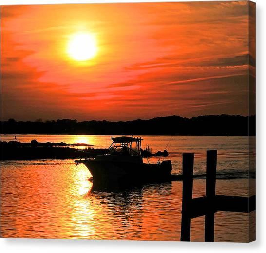 Return At Sunset Canvas Print