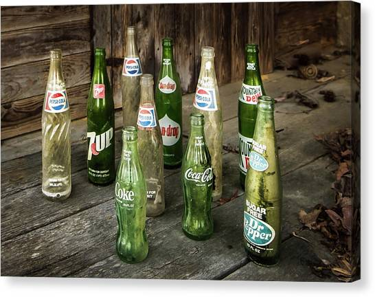 Mountain Dew Canvas Print - Return For Deposit by Cynthia Wolfe