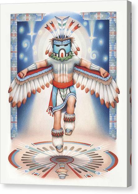 Karma Canvas Print - Return Of The Blue Star Kachina by Amy S Turner