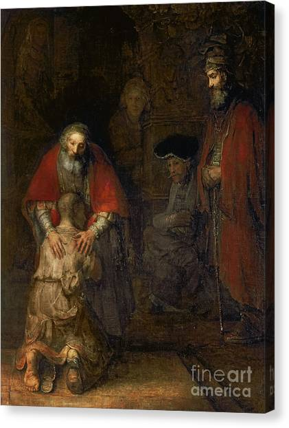 Rembrandt Canvas Print - Return Of The Prodigal Son by Rembrandt Harmenszoon van Rijn