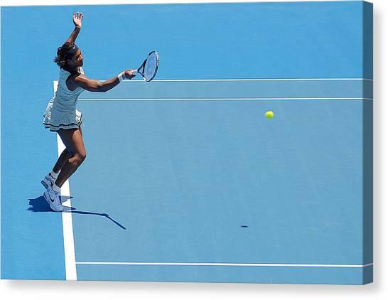 Serena Williams Canvas Print - Return - Serena Williams by Andrei SKY