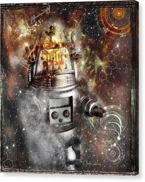 Forbidden Planet Canvas Print - Return To The Forbidden Planet by M M Rainey