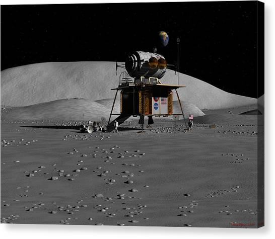Return To The Moon Canvas Print