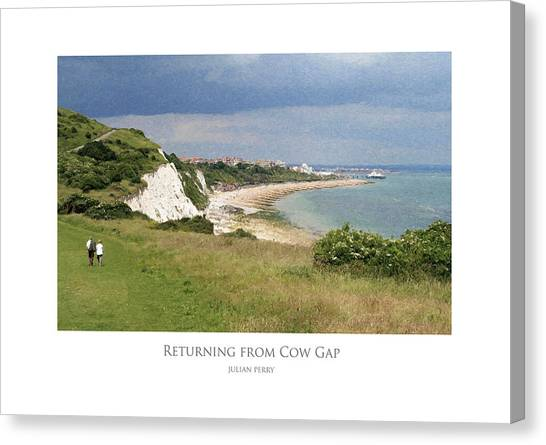 Returning From Cow Gap Canvas Print
