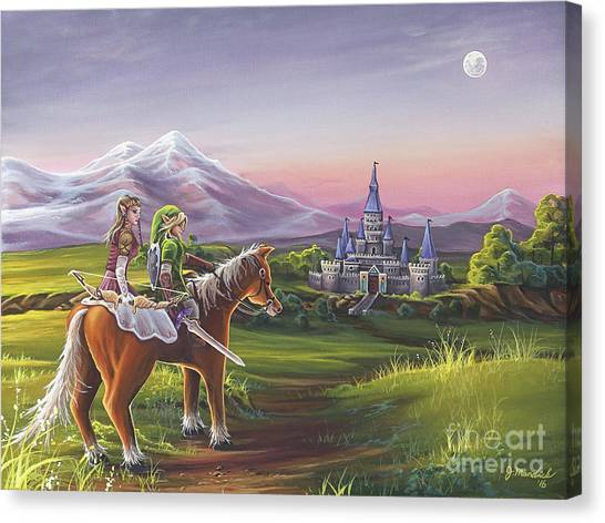 Zelda Canvas Print - Returning Home by Joe Mandrick