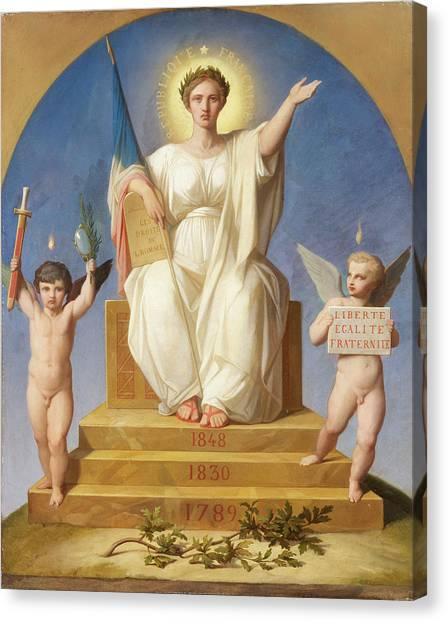 Liberte Canvas Print - Revolution by Artist of the 19th century