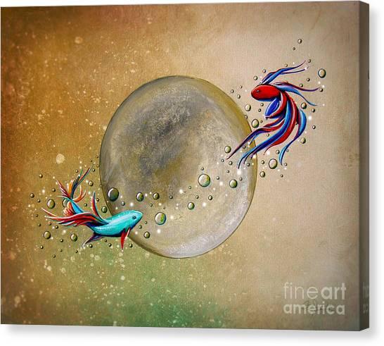 Goldfish Canvas Print - Revolution by Cindy Thornton