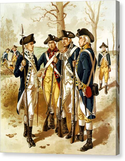 Soldiers Canvas Print - Revolutionary War Infantry by War Is Hell Store