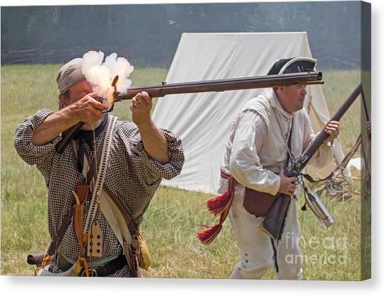 Revolutionary War Reenactment Canvas Print