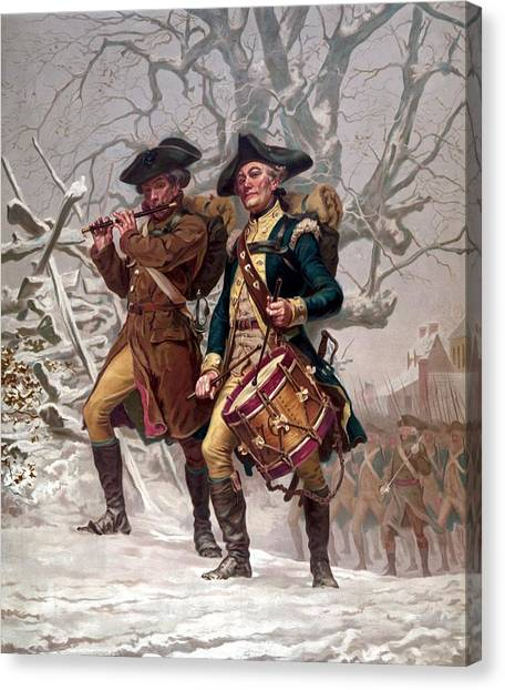 Revolutionary War Canvas Print - Revolutionary War Soldiers Marching by War Is Hell Store