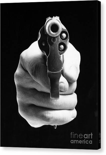 Artcom Canvas Print - Revolver Aimed At You by Granger