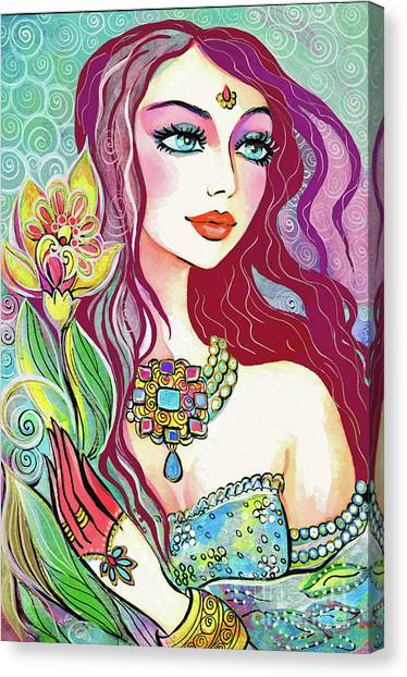 Spiritual Portrait Of Woman Canvas Print - Reya by Eva Campbell