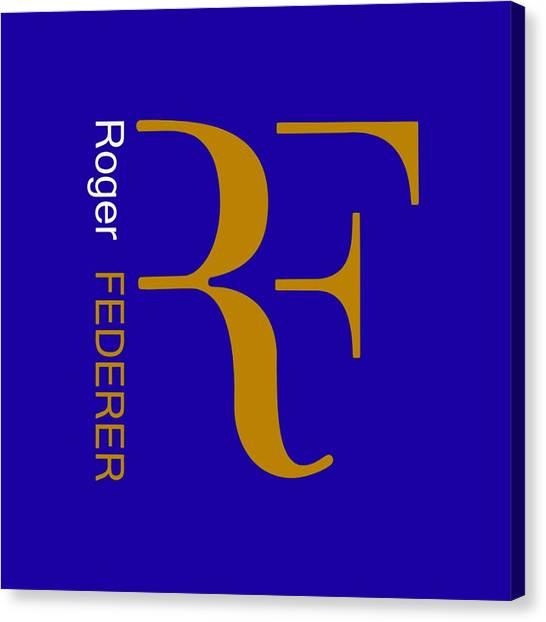 Roger Federer Canvas Print - rf by Pillo Wsoisi