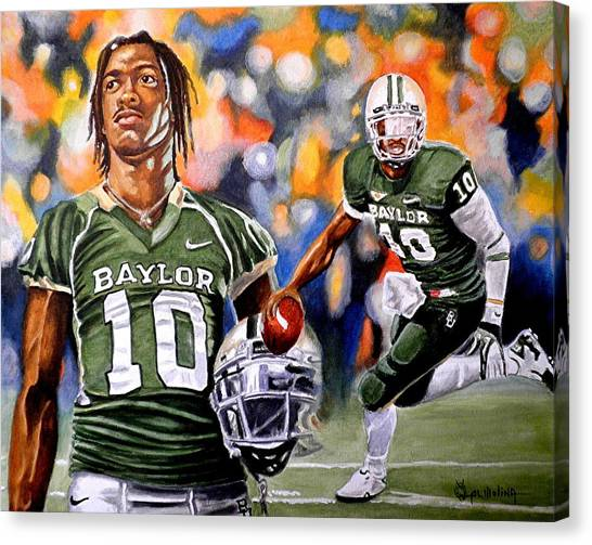 Baylor University Canvas Print - RG3 by Al  Molina